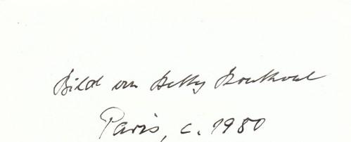 Notiz Ernst Jünger zu Portrait von Betty Bouthoul | Für das Photo (c) 2008 T. Wimbauer