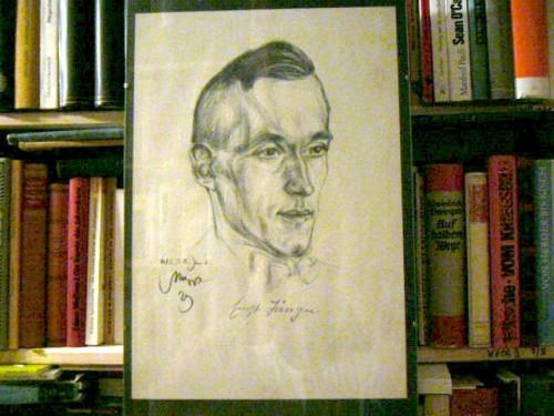 Portrait Ernst Jünger von Emil Stumpp, 1929 | Für das Photo (c) 2008 by T. Wimbauer (Photo zeigt Exemplar aus Sammlung T. Wimbauer)