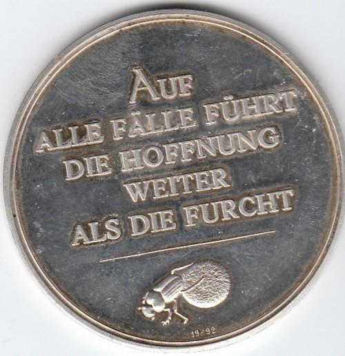 Ernst Jünger-Münze Rückseite | Photo (c) T.Wimbauer 2008