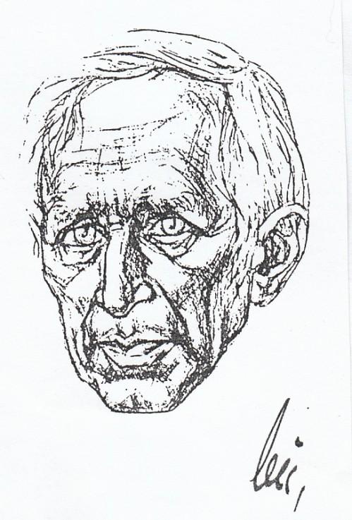 Jünger-Portrait von Triebel oder Buchberger, Kopie aus Sammlung T.Wimbauer