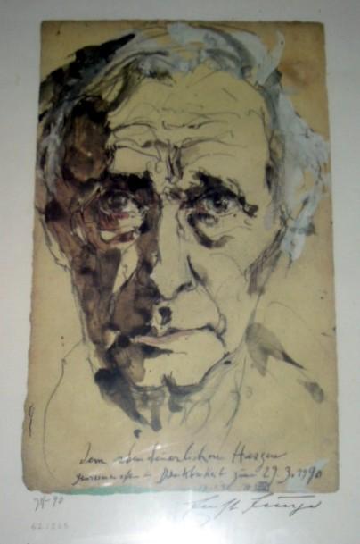 Jünger Portrait von Horst Janssen, Photo (c) T.Wimbauer