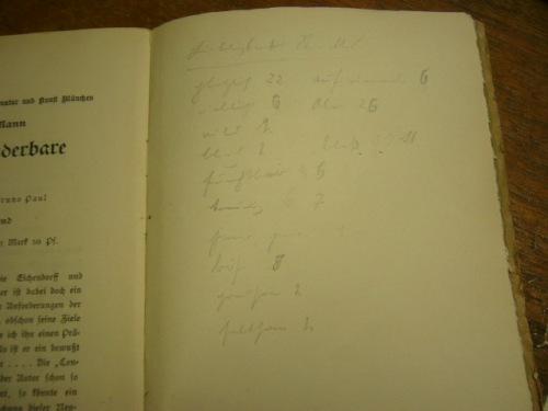 Liste von Ernst Bertram 1