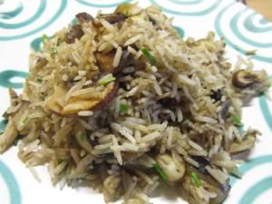 Reis mit Champignons 1