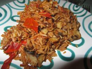 Reis mit Champignons 2